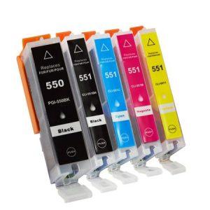 CLI551, PGI550 za Canon komplet 5 kartuš (4 barve)